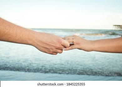 Engagement photos on Folly Beach, SC