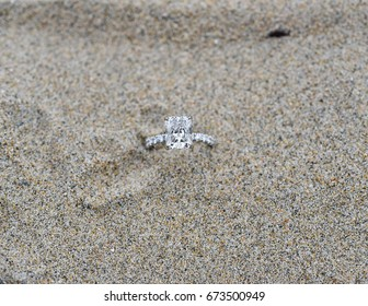 Engagement Ring on sand