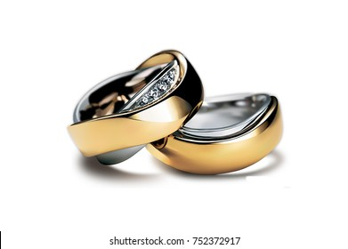 Engagement Rings in white Background