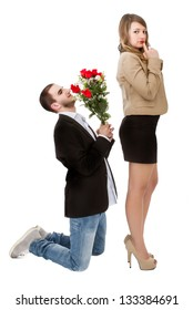engagement with roses