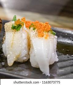 Engawa sushi , Fluke Fin fish sushi