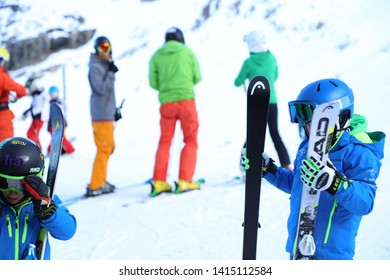 ENGELBERG-TITLIS-SWITZERLAND-DECEMBER 3 : View on the titlis mountain at sky resort in winter season, December 3, 2016, Engelberg-Titlis, Switzerland