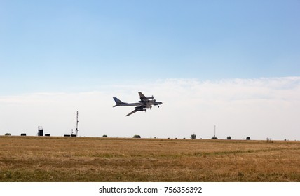 ENGELS, RUSSIA - AUGUST 19, 2017: Air Fleet Day. Military aircraft bomber takes off