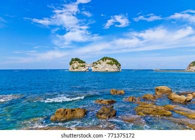 Engetsu Island is a small island off the coast of Shirahama, Wakayama Prefecture, Japan.
