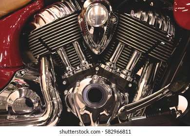 Engine classic retro motorcycle
