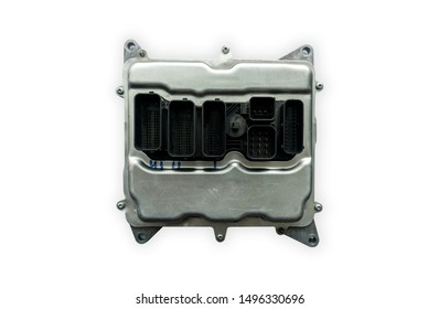 Engine Control unit of Car  ( ECU )  isolated on white background.