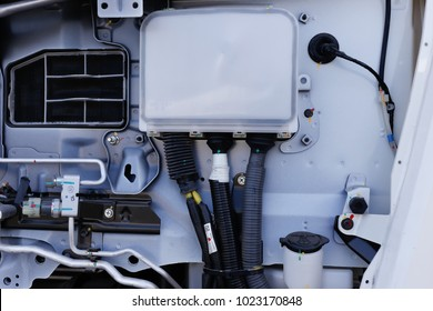 Engine control unit (ECU) isolated on truck  cabin