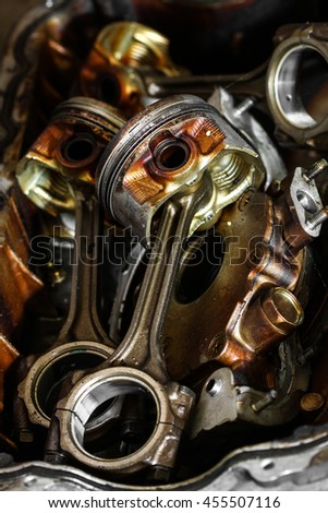 Engine Cylinder Bore Remove Cylinder Head Stock Photo (Edit