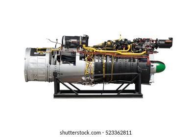 Engine fighter combat aircraft isolated on the white background