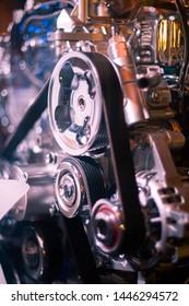 Engine flywheel, test engine and display show