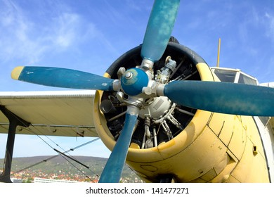 ENgine of an old plane