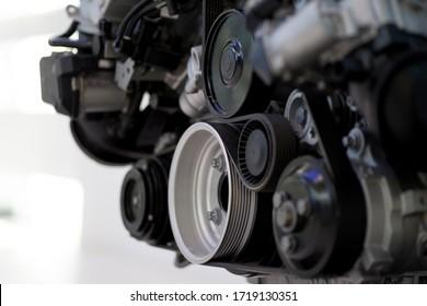 Engine parts, parts of a car engine