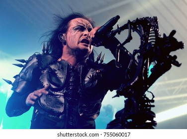 The Engine Rooms Southampton - November 8th 2017: Dani Filth lead singer with Cradle of Filth  performing  at the Engine Rooms, Southampton, November 8 2017 in Southampton, Hampshire, UK