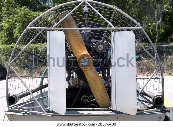 Engine Side Airboat Showing Propeller Cage Stock Photo (Edit