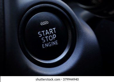 Engine Start Button in car