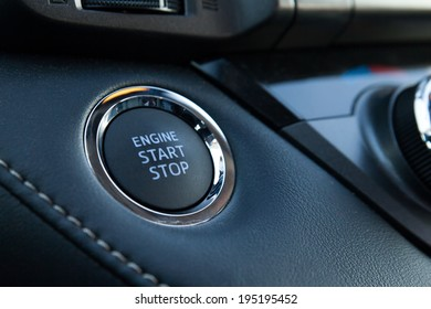 Engine Start Stop button of a modern car
