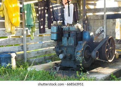 An engine that be used to pull small boat at a beach, Kuala Terengganu by fisherman