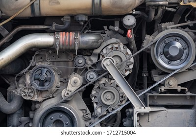 The engine of the transportation vehicle is stopped.