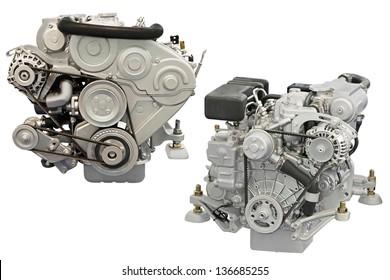 engine under the white background