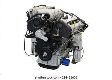an engine under the white background