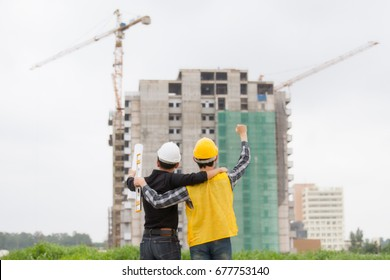 Engineer architect working at Construction Site