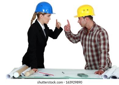 Engineer having an argument