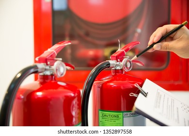 Engineer inspection Fire extinguishers.