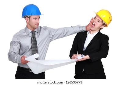 Engineer jealous of his  colleague