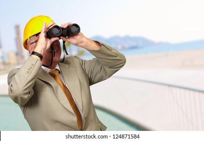 Engineer Looking Away, Outdoor