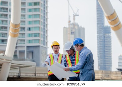 Construction project images stock photos vectors shutterstock engineer meetingdiscussion with construction blueprint on site workbusiness man meeting malvernweather Choice Image