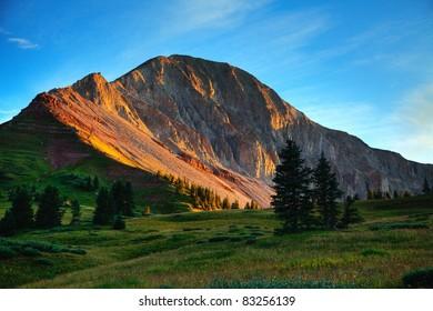 Engineer Peak near Durango Colorado, at sunset