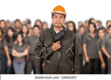 Engineer with  teamwork