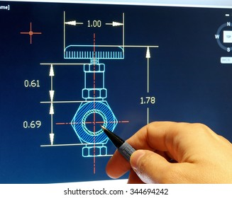 engineer working on a cad blueprint