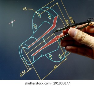 engineer working on a cad design