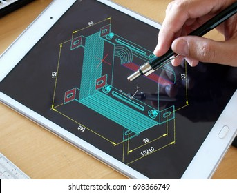 engineer working on electrical device design