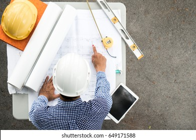 Engineer working on site