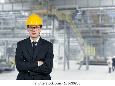 Engineer in an yellow hat