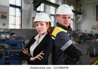 engineering construction teamwork concept : professional engineer work industrial project site ,selective focus
