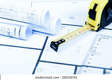 Engineering drawings with a ruler and a meter