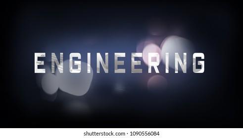 Engineering font graphic
