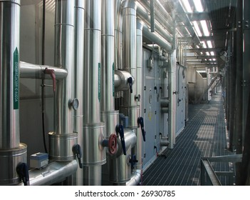 Engineering infrastructure of a modern public building. Systems of ventilation and air-conditioning