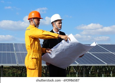 Engineering looking for a job for project planning in the future time.solar energy power concept.