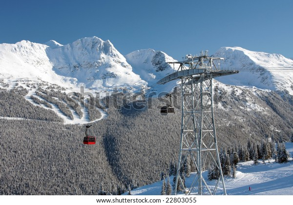 An engineering marvel (and some would say eyesore) that connects Whistler Mountain to Blackcomb Mountain from not-quite-peak to not-quite-peak.  The P2P Gondola.