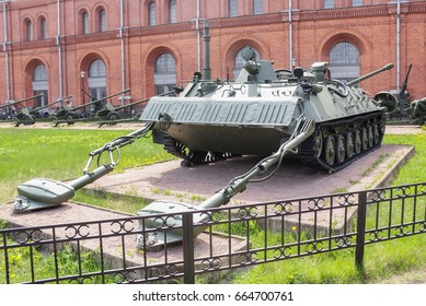 Engineering reconnaissance machine IRM. St. Petersburg Russia - 28 May, 2017. Military History Museum of combat equipment in St. Petersburg.