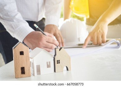 Engineers and architects will design drawing home.