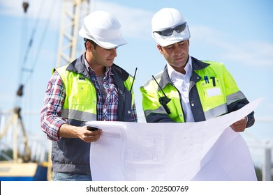 Engineers At Construction Site
