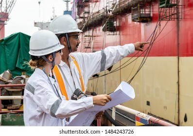 The engineers at the shipyard