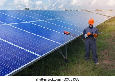 Engineers were working at the Solar Power