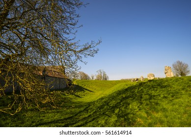 england april21 2015.View of Old Sarum, the site of the earliest settlement of Salisbury in England, UK