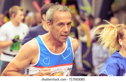 England, Bristol - Sep 17, 2017: Marathon Unknown Male Runner 49, Simplyhealth Great Bristol Half Marathon